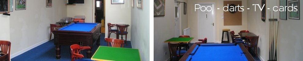 Pool and darts in Hawick Conservative Club
